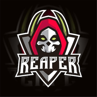 Reaper Esport 게임 로고 프리미엄 벡터