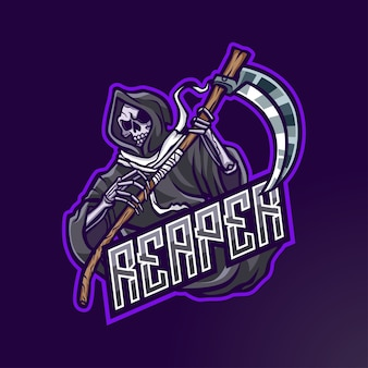 Esport 및 스포츠 용 reaper mascot 로고