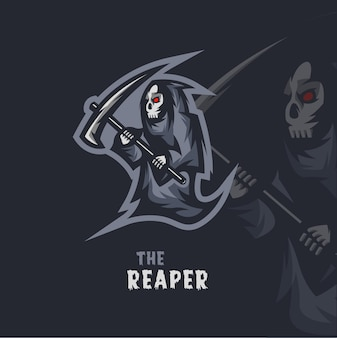The reaper mascot logo