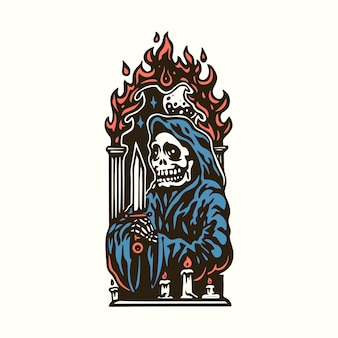 Reaper pray illustration