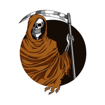 Reaper scythe illustration