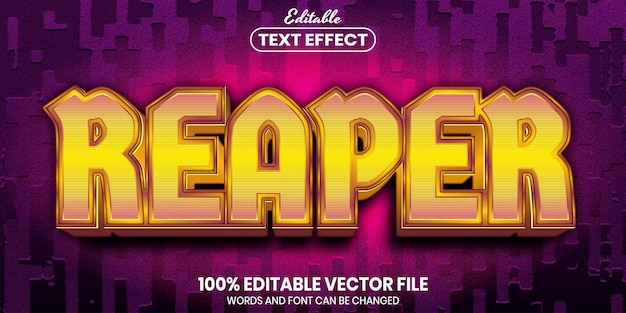 Reaper text, font style editable text effect
