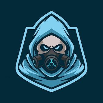 Reaper toxic mascot esport logo