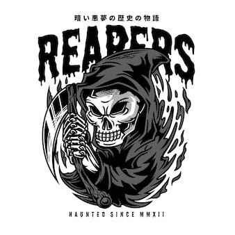 Reapers black and white illustration
