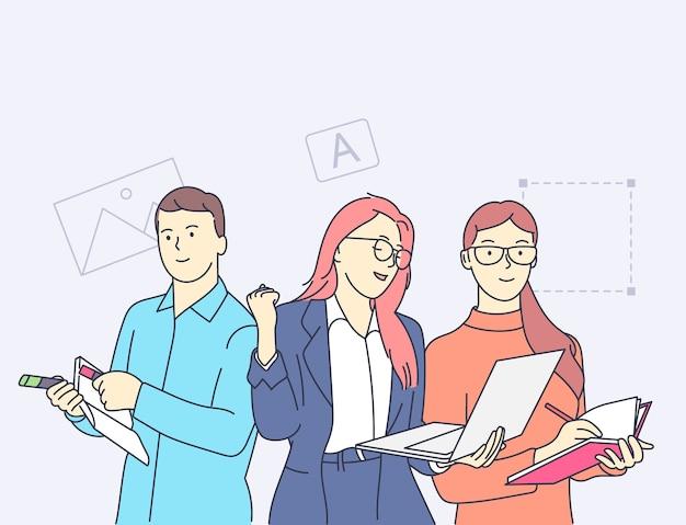 現実性チームワークコラボレーションパートナーシップの概念