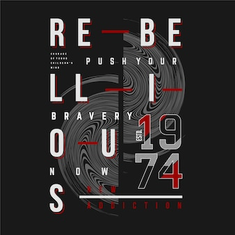 Rebellious text rame typography