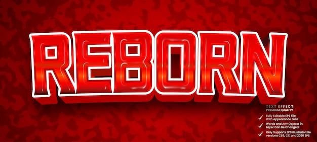 Reborn 3d text style effect