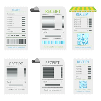 Receipt about payment. paper receipt, invoice sign.