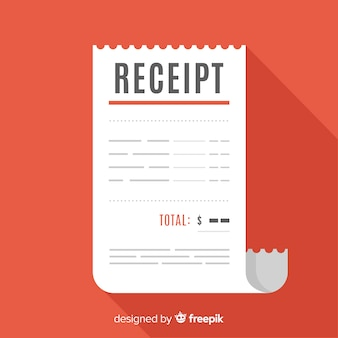 Receipt concept in flat style