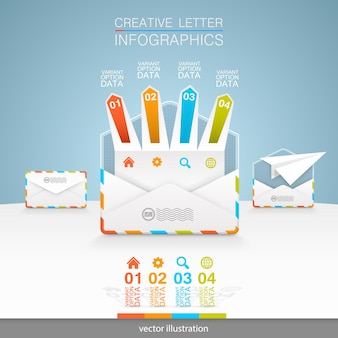 Receipt, opening and sending emails. vector illustration