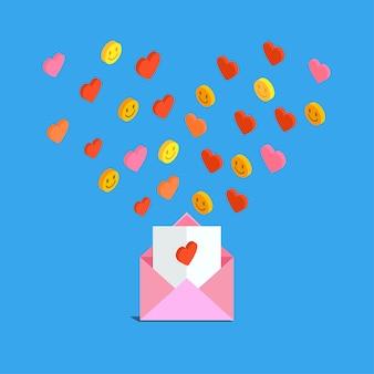 バレンタインデーのラブメールやsmsの送受信。