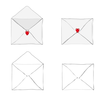 Receiving or sending love letter for valentines day.