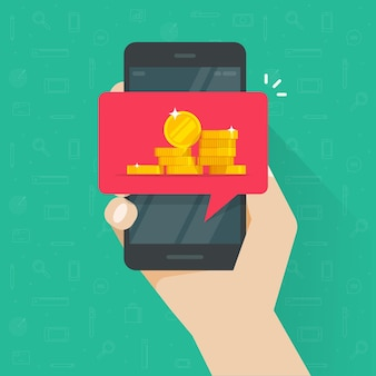 휴대 전화 핸드폰 그림에 웹 디지털 돈 받기