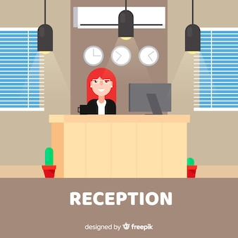 Reception concept in flat style