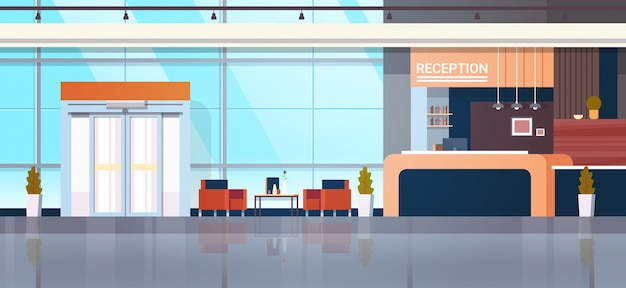 Reception illustration with lobby