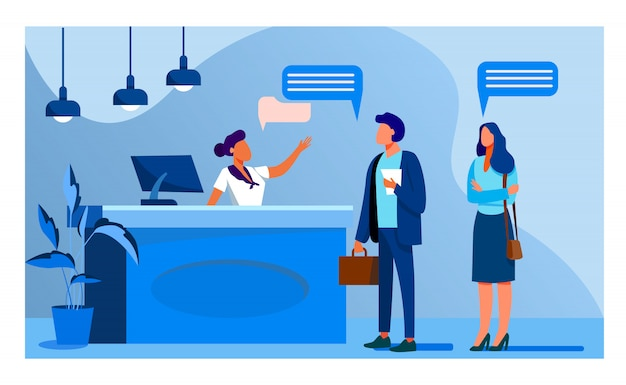 Receptionist job vector illustration