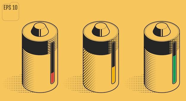 충전식 배터리. 환경 배터리.