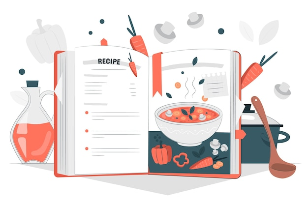 レシピ本のコンセプトイラスト