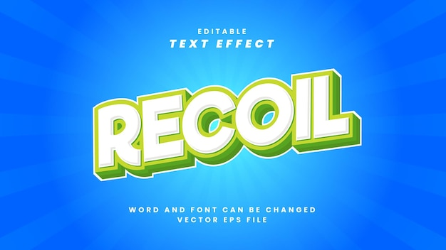 Редактируемый текстовый эффект отдачи