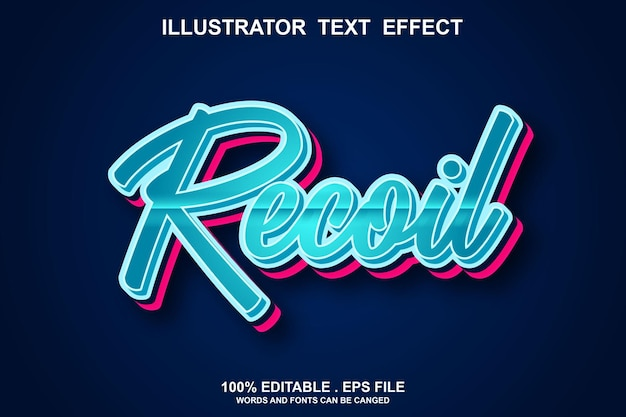 Recoil text effect editable