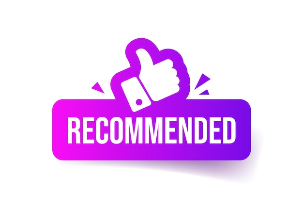 Recommended button.