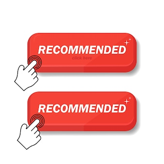 Recommended icon is red. i recommend a click for the client. i recommend the linear mark with a day's push of a finger. sign the brand recommended. the best tag for a great brand.