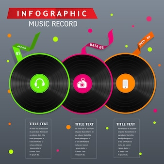 Record 80's infographic concept design.
