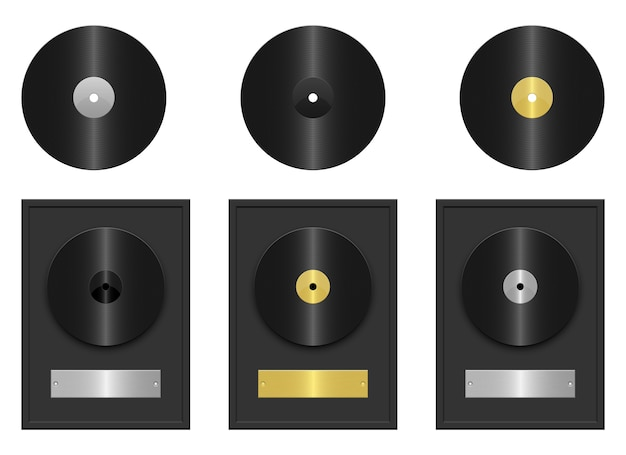 Record disk   illustration isolated on white background