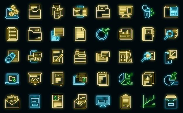 記録保持アイコンはアウトラインベクトルを設定します。契約予算。請求書の評価
