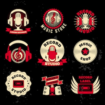 Record studio labels