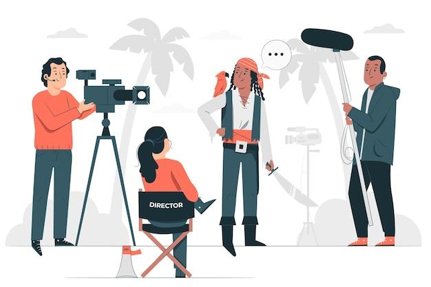 Запись концептуальной иллюстрации фильма