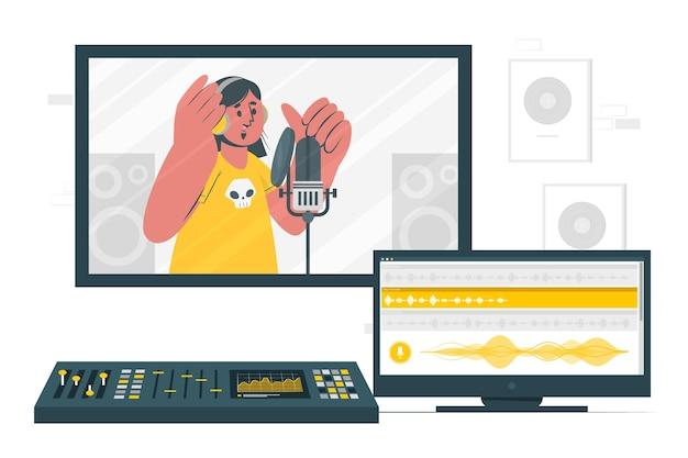 Recording concept illustration