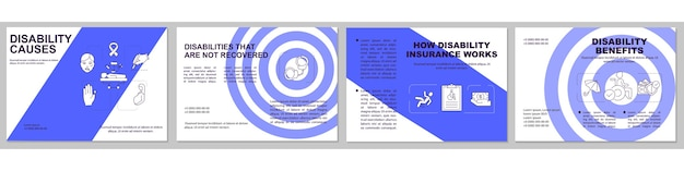 Not recovered disabilities brochure template. disability benefits.