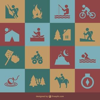 Recreational activities icons
