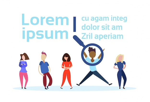 Recruitment agency iilustration with people