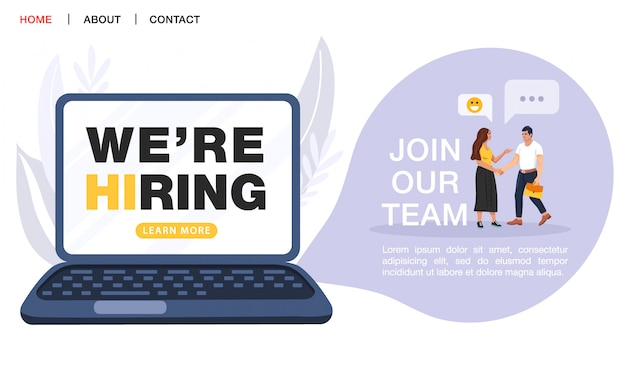 Recruitment agency landing page