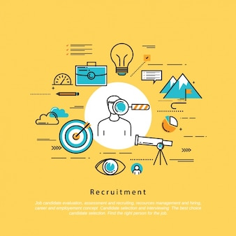 Recruitment background design