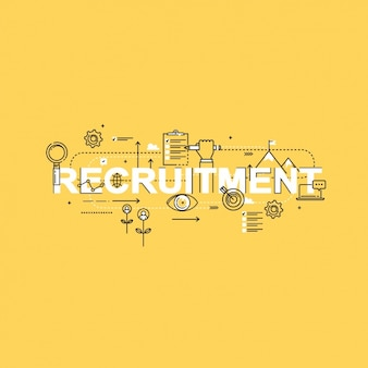 Recruitment background design