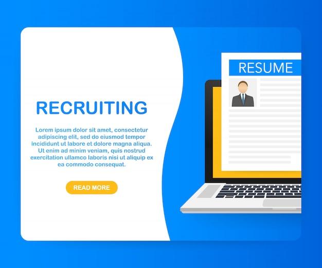 募集コンセプト。労働者を雇い、選択雇用者は仕事のためにチームを検索します。 。