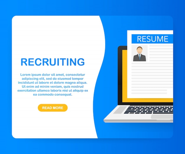 Recruitment concept. hire workers, choice employers search team for job. .