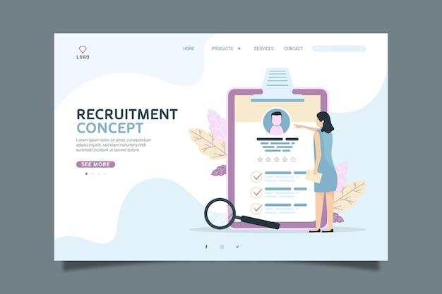Recruitment concept landing page