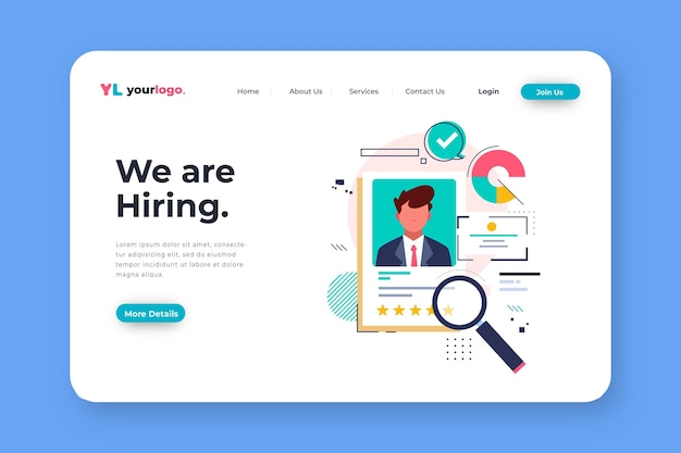 Recruitment concept landing page