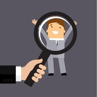 Recruitment or selection concept
