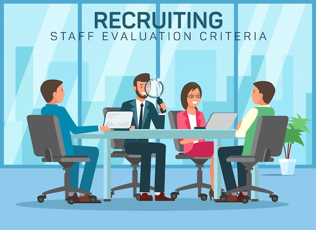 Recruting staff evalution criteria pick up staff