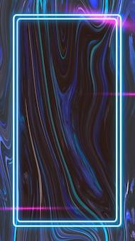 Cornice rettangolare su sfondo astratto vettoriale