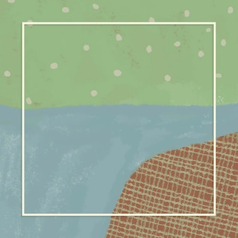 Cornice rettangolare su sfondo di paesaggio astratto