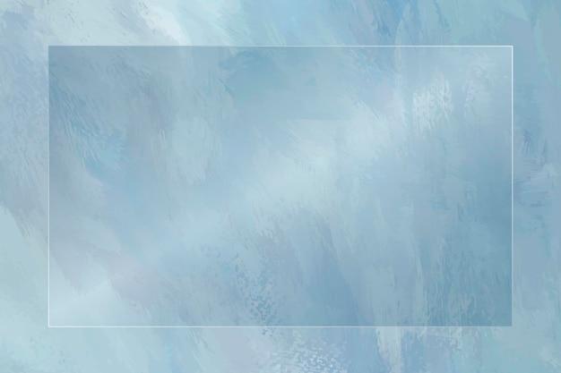 Cornice rettangolare su sfondo blu modello