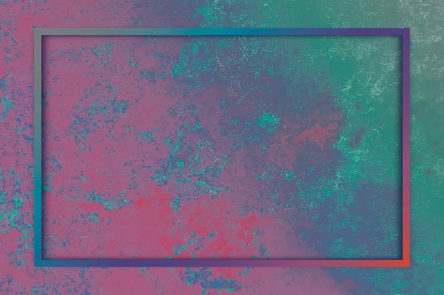 Rectangle frame on colorful background