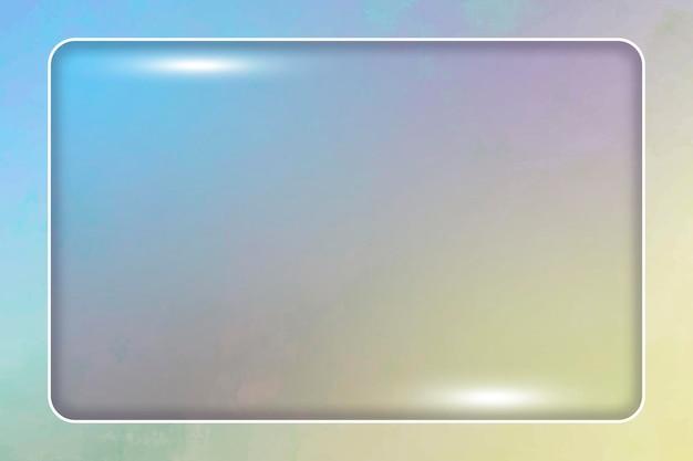 カラフルな背景の長方形フレーム