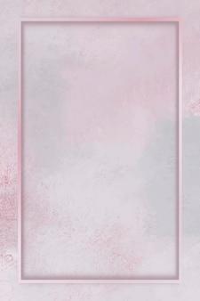 Прямоугольная рамка на розовом фоне шаблона вектора